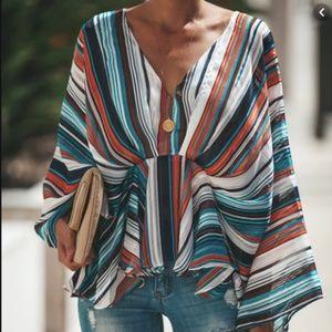 Patterned Kimono Top